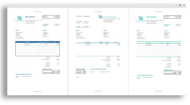 Invoice pdf generate