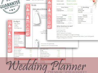 Wedding Planner Excel template