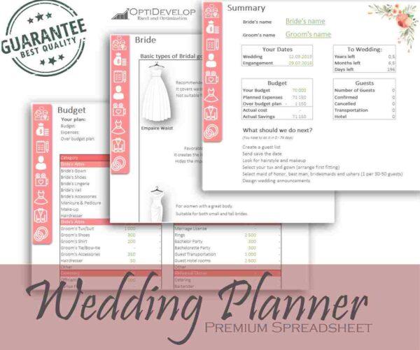 Wedding Planner Excel template