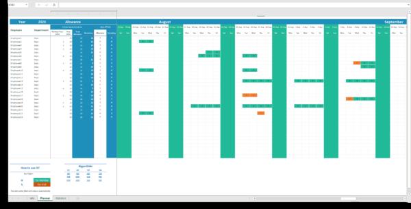 Best Calendar Absence tracker Excel template