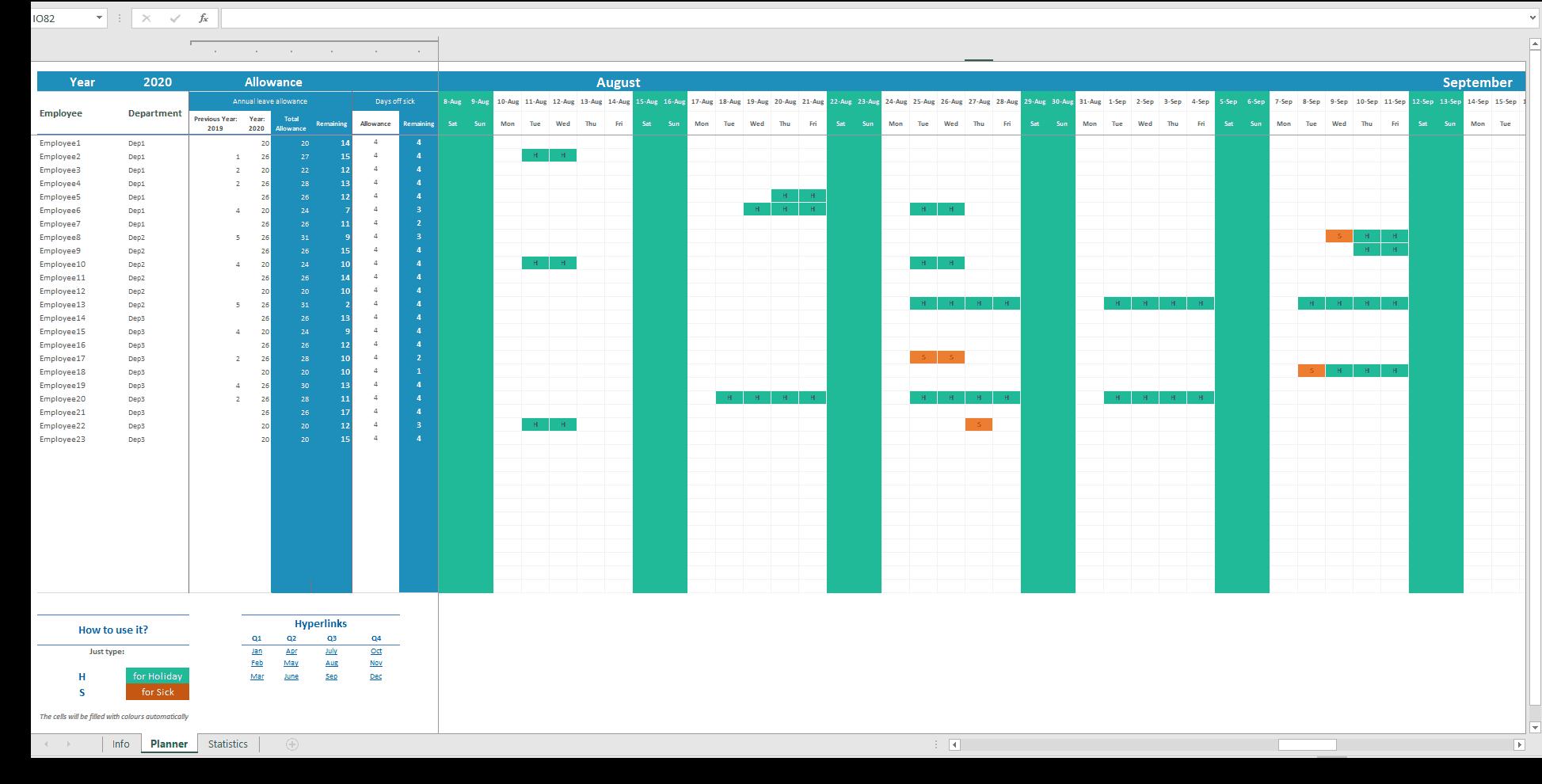 Employee Attendance Tracker Excel Sheet Luxtemplates