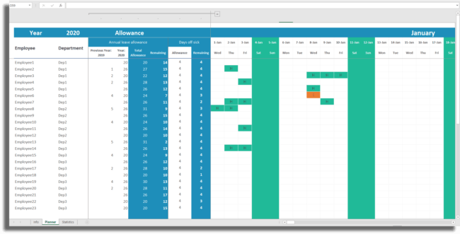 Monthly Employee Attendance Tracker Report