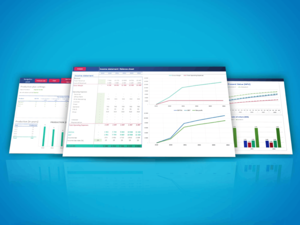 Excel template Financial Business Model