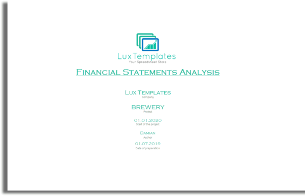 Intro financial statements example excel