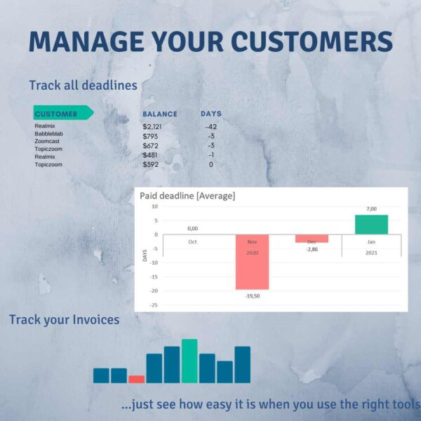 Manage Customers Excel Invoice Tracker