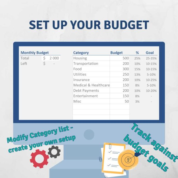 Set up Budget Expense Table