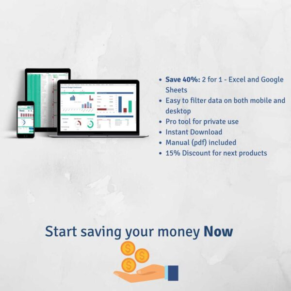 Start Saving Money 2 for 1 Instant Download