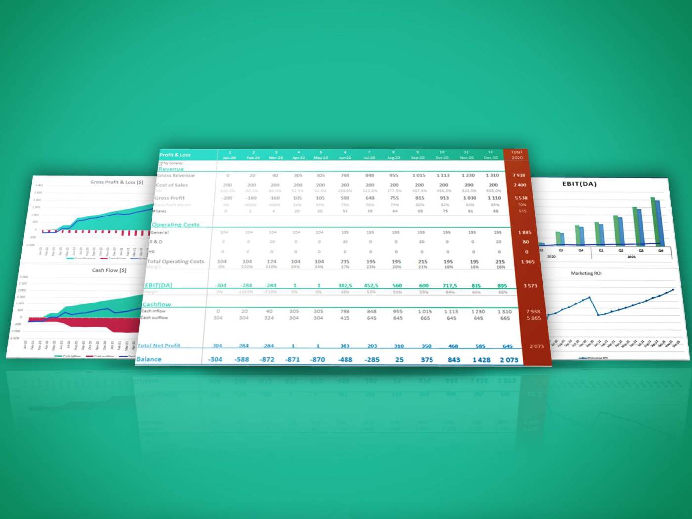 Cover Excel Template Financial Dashboard