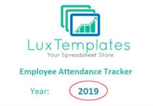 Employee attendance tracker planner