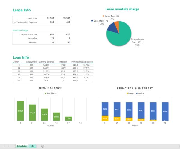 Excel loan lease calculator