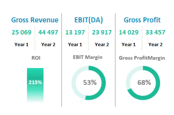 ROI EBIT figures analysis