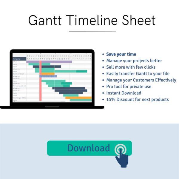 Download Gantt Timeline Sheet LuxTemplates