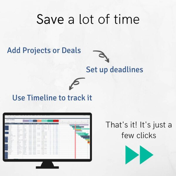 Save a lot of Time with Excel Gantt Sheet