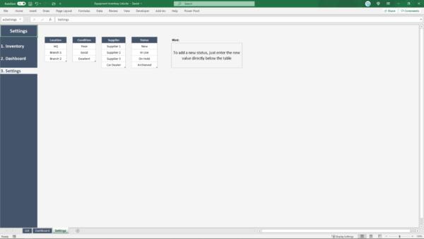 flexible modifiable spreadsheet