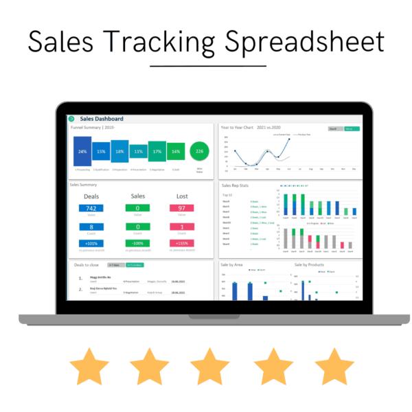 Sales Tracking Spreadsheet KPI