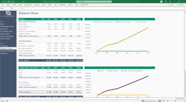 balance sheet spreadsheet