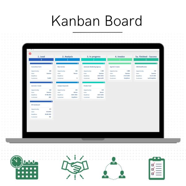 Kanban spreadsheet features