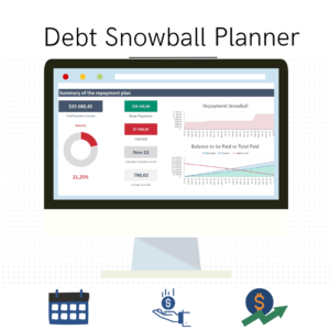 debt snowball planner cover